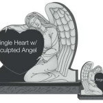 Single Heart w Sculpted Angel
