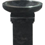 Bird Bath lid on square pedestal